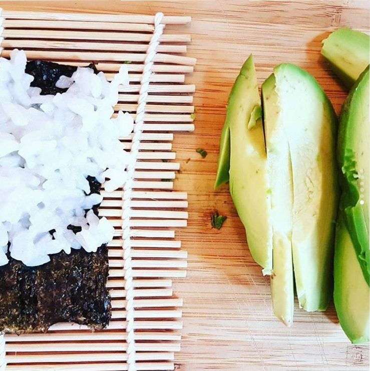 Avocado bei Maki Zubereitung